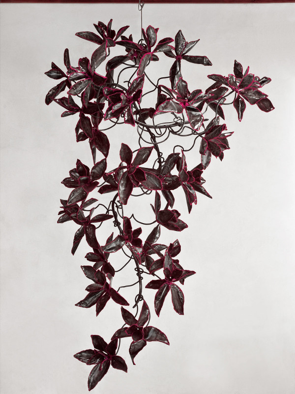 """Steel Magnolia Thunderhead, steel and flock, 7' x 5'5"""" x 4'5"""", 2009"""