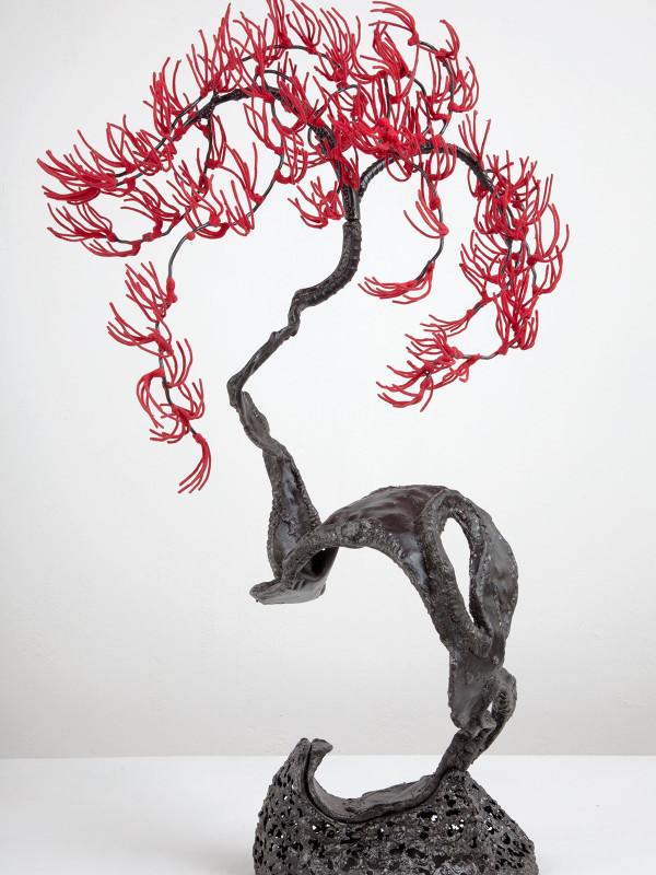 """Red White Pine, steel, flock, 2'6"""" x 1'6"""" x 1'5"""", 2011"""
