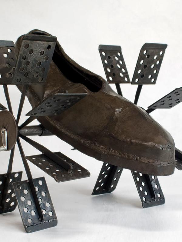 "Paddlewheel Rubber, steel, 1'3"" x 2'1"" x 1'6"", 2008"