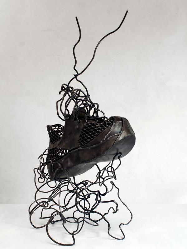 "Cloud 9 Running Shoe, steel, 2'10"" x 1'7"" x 1'1"", 2008"