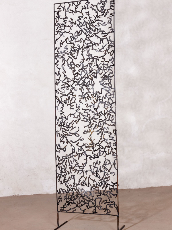 """Mechitza, steel, 5'4 ¼"""" x 1'6 ¼"""" x 1"""", 2016"""