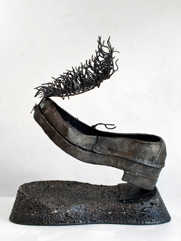 """Fortified Loafer with Shadow, steel, 2' x 1'2"""" x 1'9"""", 2008"""
