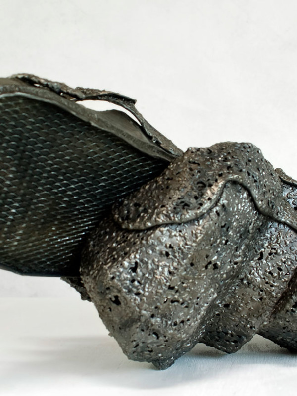 """Sinkhole Sandal, steel, H=1'3"""" x 2'3"""" x 1'1"""", 2008"""