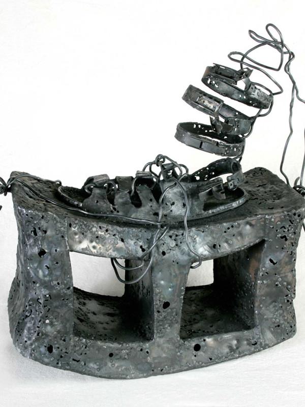Roman Sandal with Cinderblock Soul, steel, 1'8