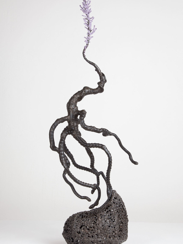 """After Nike, steel, flock, nails, 2'10"""" x 8"""" x 1', 2011"""