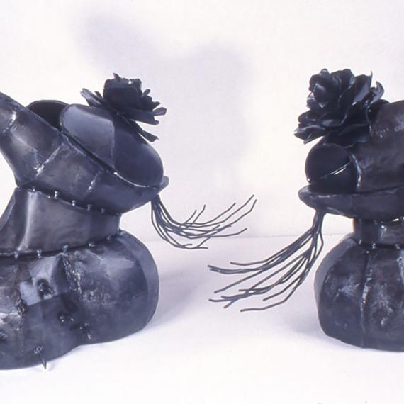 "Chopines, steel, 1'3"" x 1'9"" x 1'8"", 2004"