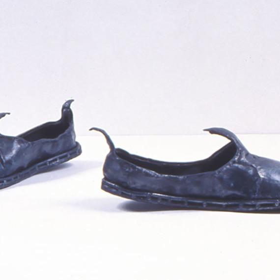 "Turkish Shoes, steel, 5"" x 1'4"" x 1'3"", 2004"