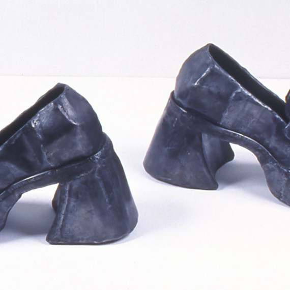 "High Heeled Loafers, steel, 10"" x 1'4"" x 1'6"", 2004"