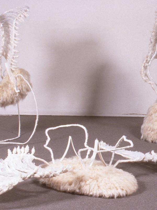 Malachim, steel, cloth, wool, dimensions variable, 1996