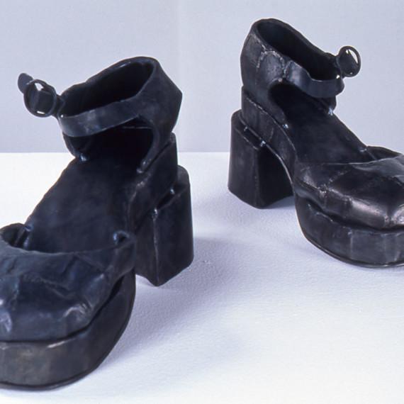 "Spanish Dancing Shoes, steel, 10"" x 1'4"" x 1'4"", 2003"