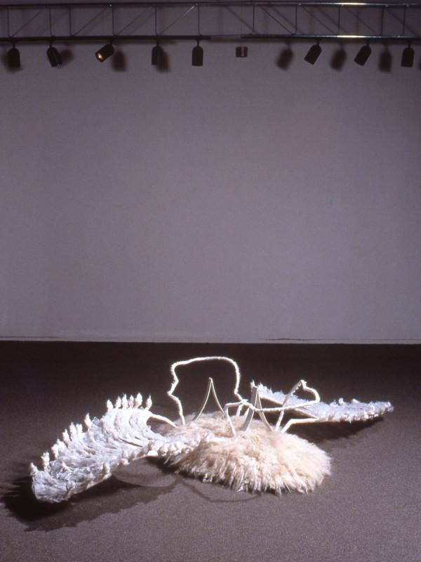detail, Malachim, steel, cloth, wool, dimensions variable, 1996