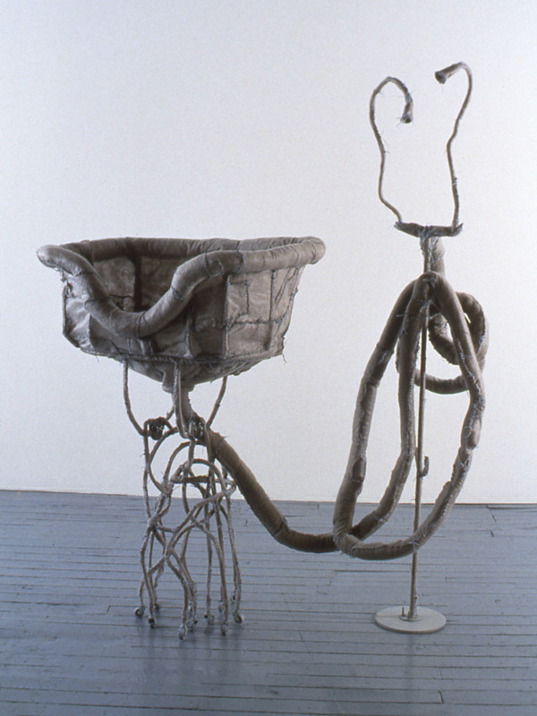 "detail, An Ecstasy of Sinks, steel, synthetic felt, wheels, flocking, 5'4"" x 9'6"" x 6'1"", 1994"