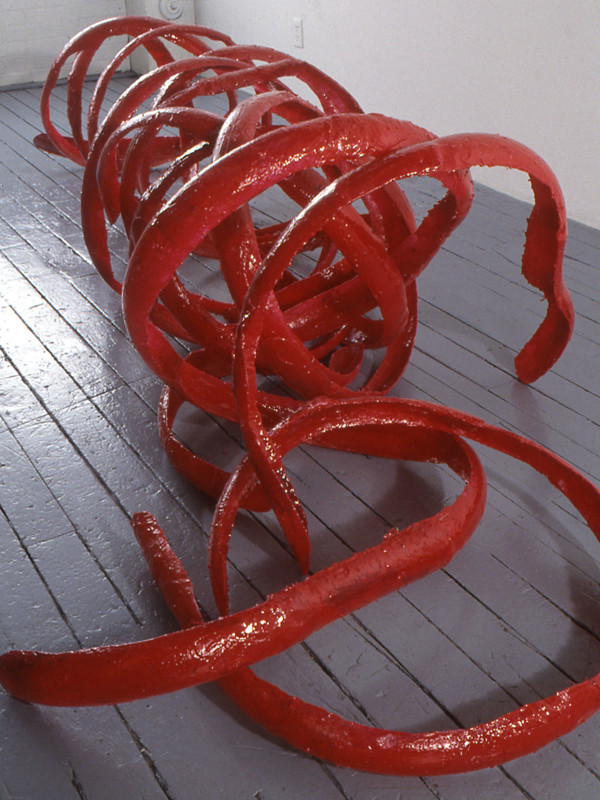 """World's Biggest and Longest Nails in the Configuration of a Harrower, polyester resin, 9' x 3'2"""" x 3"""", 1994"""